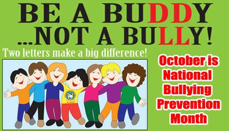 October awareness bullying